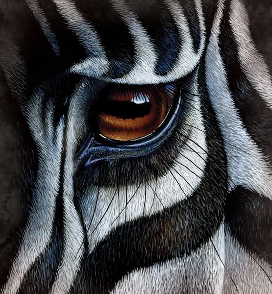 Wild Zebra Eye 3D T-shirt